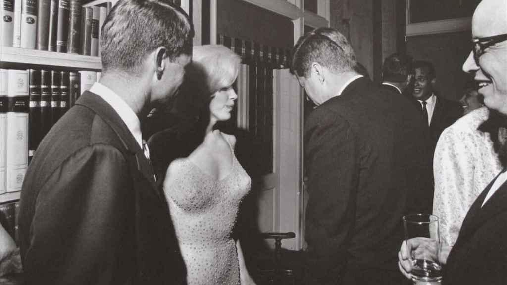 Marilyn con Kennedy el famoso día del Happy Birthday Mr. President.