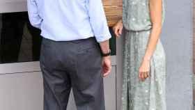 Felipe y Letizia durante su visita a un restaurante de las Palmas de Gran Canaria.
