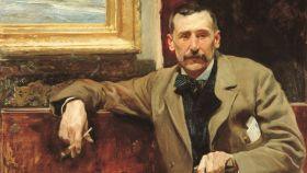 Retrato de Galdós hecho por Sorolla.