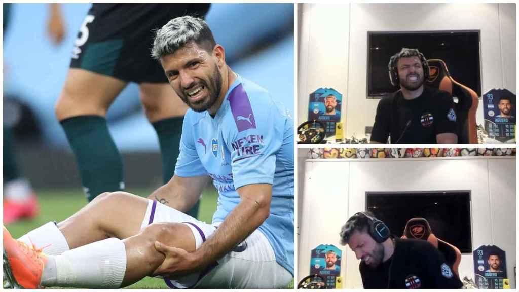 ¿Se lesionó Agüero en realidad durante un stream de Twitch?
