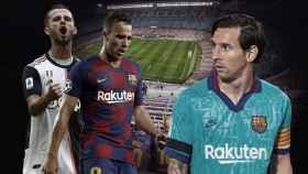 Messi, Arthur y Pjanic
