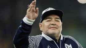 Diego Armando Maradona, en un partido de Gimnasia y Esgrima La Plata