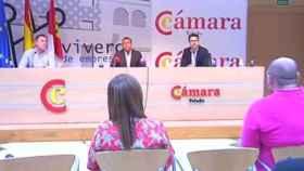 Imagen de la rueda de prensa. Captura de pantalla de CMM