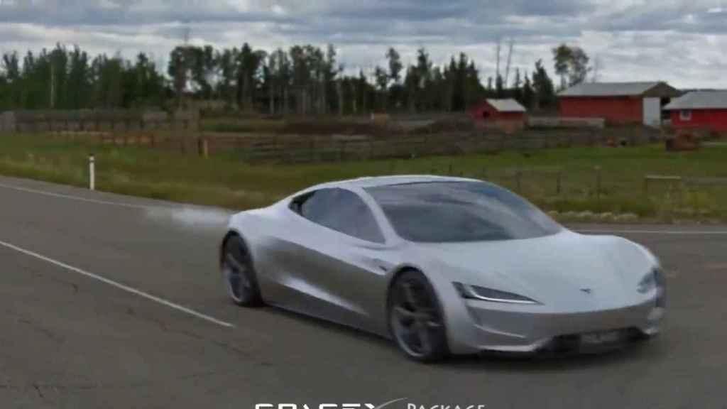 La aceleración del nuevo Tesla Roadster, en una simulación