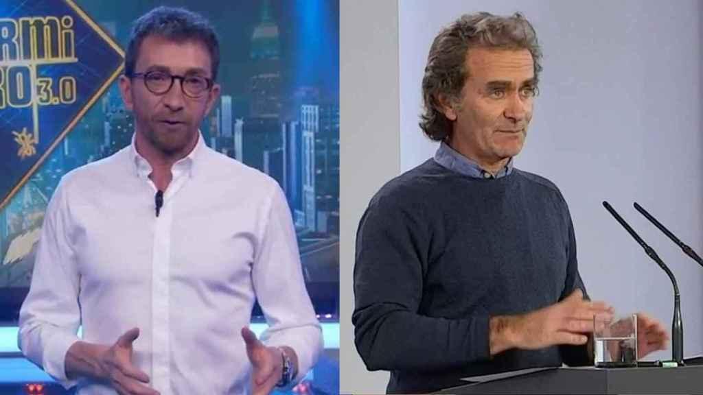 Pablo Motos y Fernando Simón.