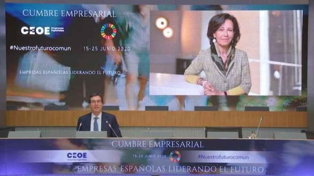 Ana Botín en el foro del sector financiero.