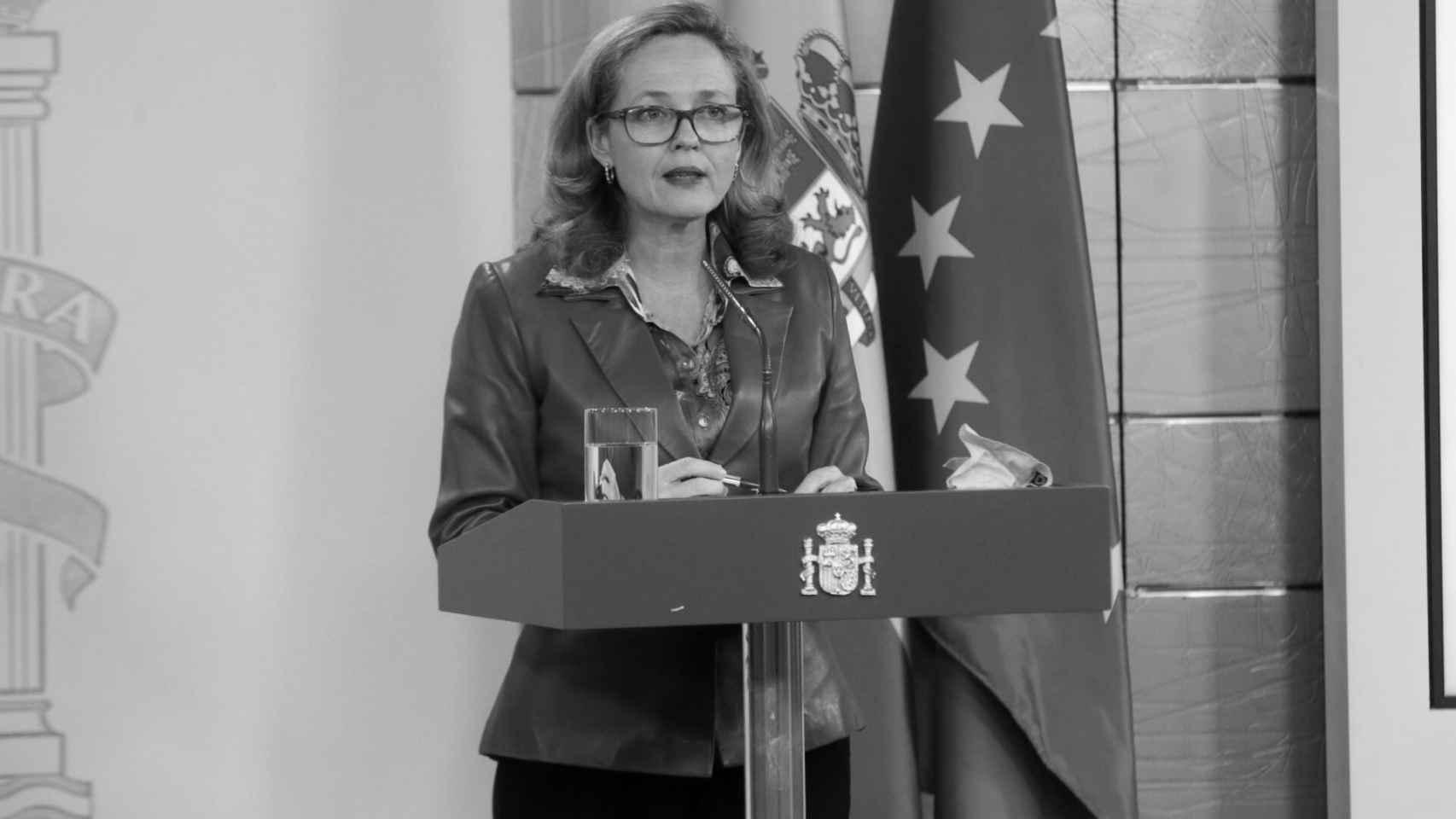 La vicepresidenta del Gobierno, Nadia Calviño.