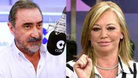 Carlos Herrera (COPE) y Belén Esteban (Telecinco)