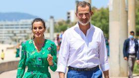Felipe VI y la reina Letizia durante su estancia en Mallorca.