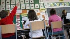 Niños en un colegio de Barcelona.