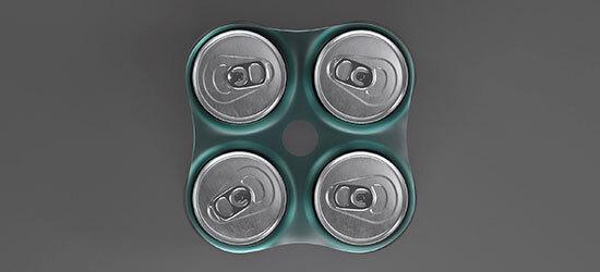 El material que han desarrollado se usa para los packs de latas de bebida, por ejemplo.
