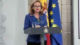 Nadia Calviño, en rueda de prensa posterior al Consejo de Ministros.