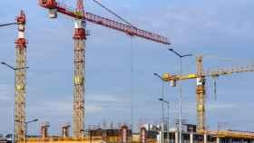 Imagen de una promoción en fase de construcción.