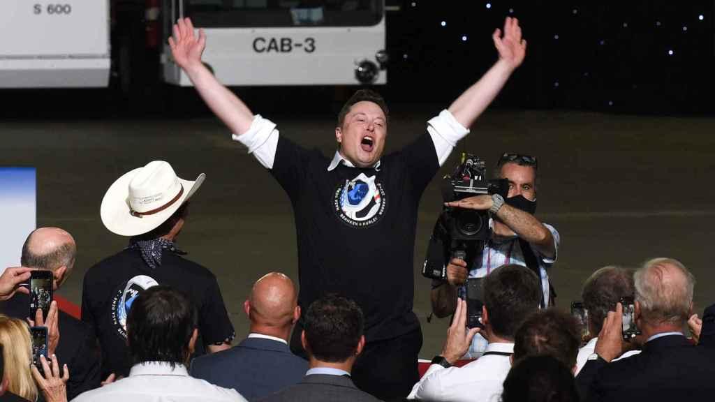 Elon Musk en un acto de su empresa aeroespacial SpaceX.