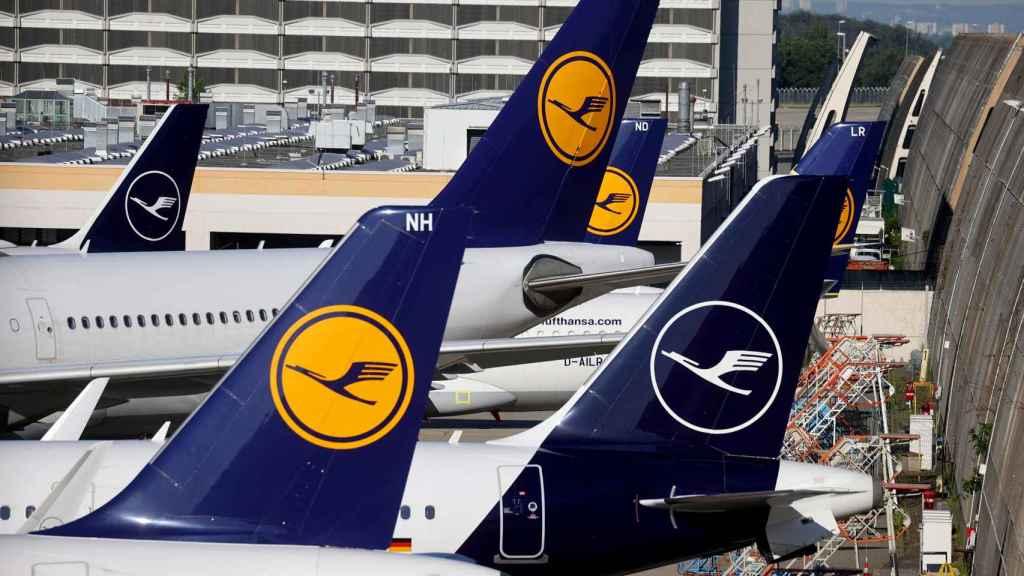 Imagen de aviones de Lufthansa.