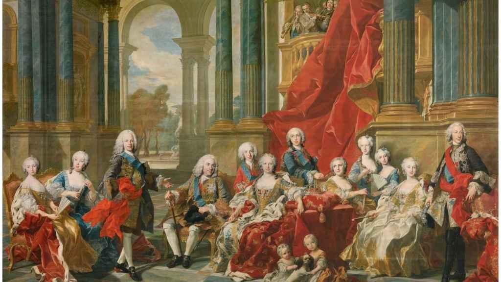 'La Familia de Felipe V', por Louis-Michel van Loo.