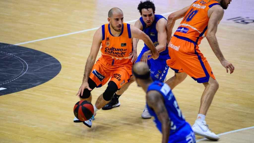 Quino Colom, durante el Herbalife Gran Canaria - Valencia Basket