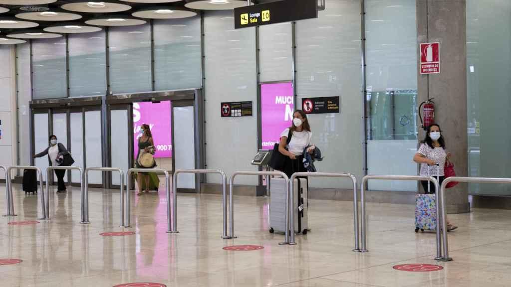 Imagen de la terminal de llegadas.