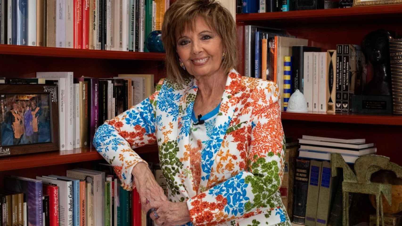 Teresa Campos en una imagen tomada de la página web de Víctor Marfil.