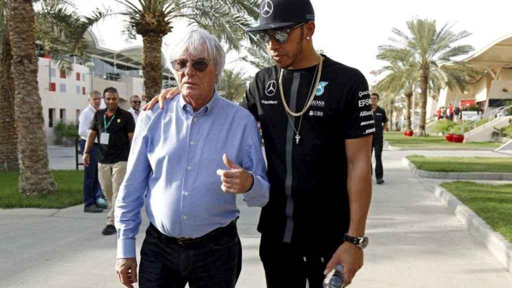 Bernie Eccleston y Lewis Hamilton