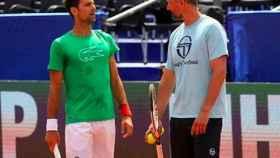Goran Ivanisevic junto a Novak Djokovic