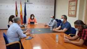 Reunión de la consejera Patricia Franco con los representantes de los sindicatos