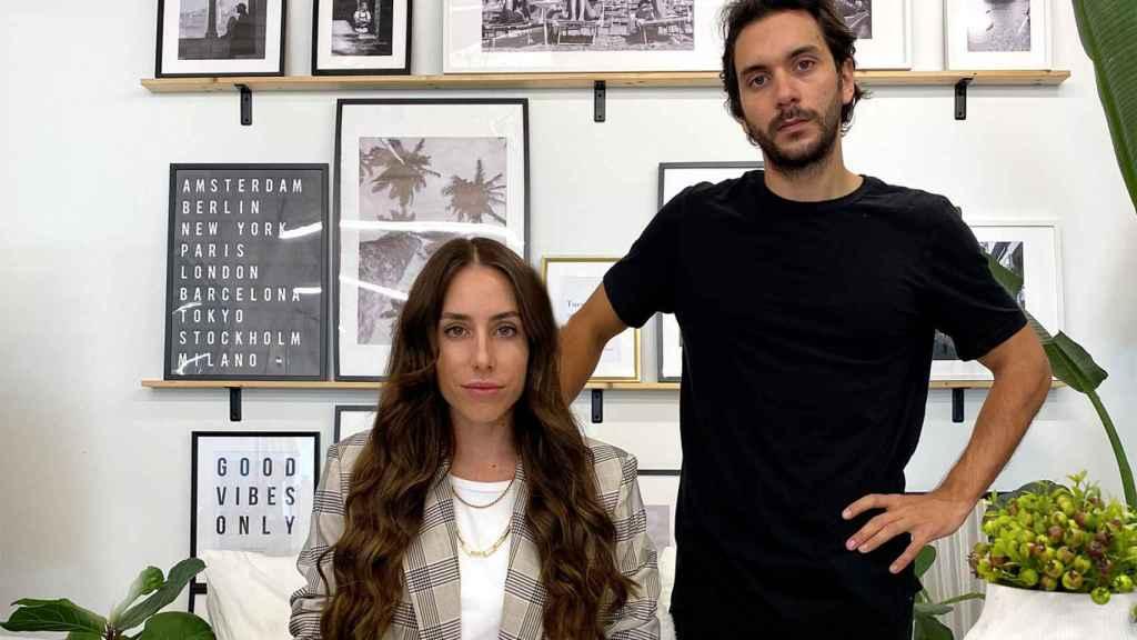 Los cofundadores de Passporter, Andrea Cayón y Diego Rodríguez.