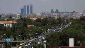 Imagen de Madrid de esta semana con trafico congestionado.