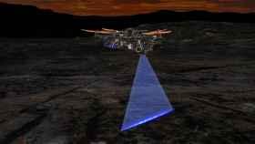 Dron que busca fósiles y minerales.