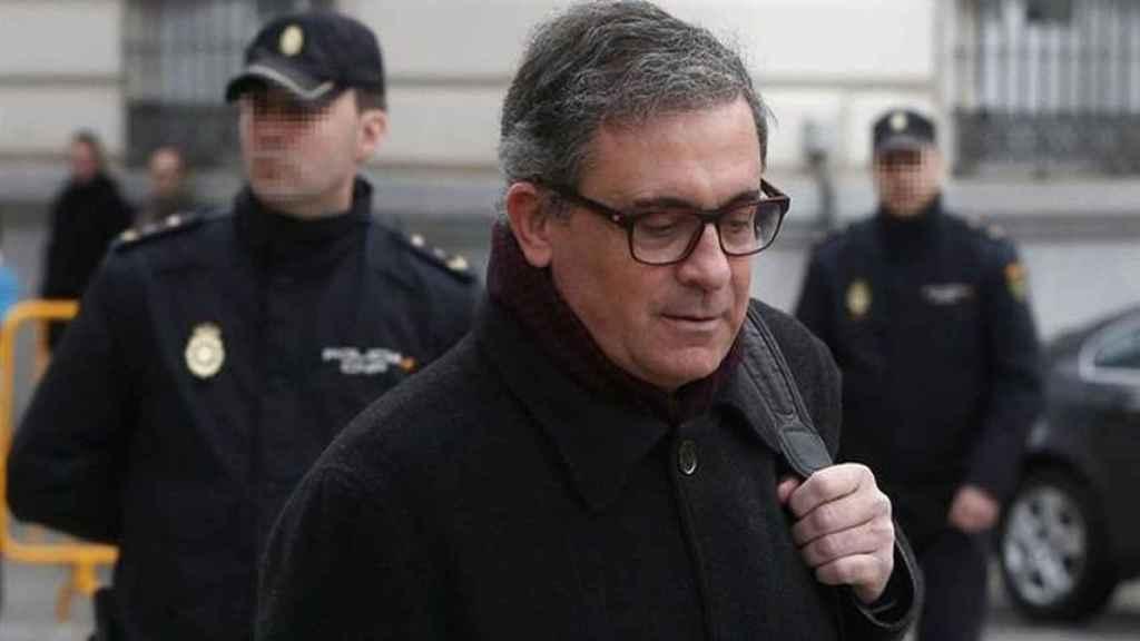 Jordi Pujol Ferrusola, a la entrada de la Audiencia Nacional, en 2017.