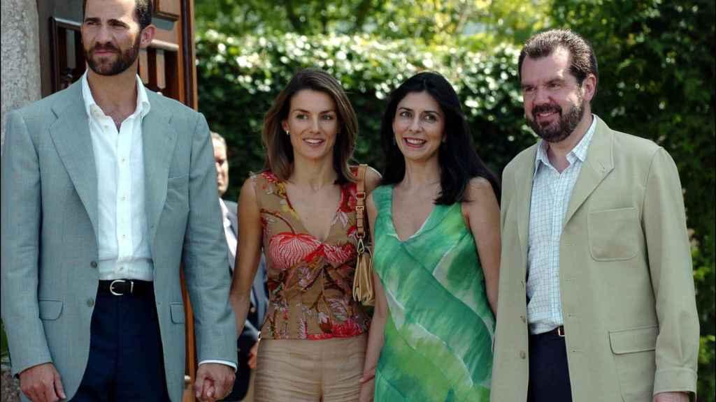 Felipe VI, Letizia, Ana Togores y Jesús Ortiz.