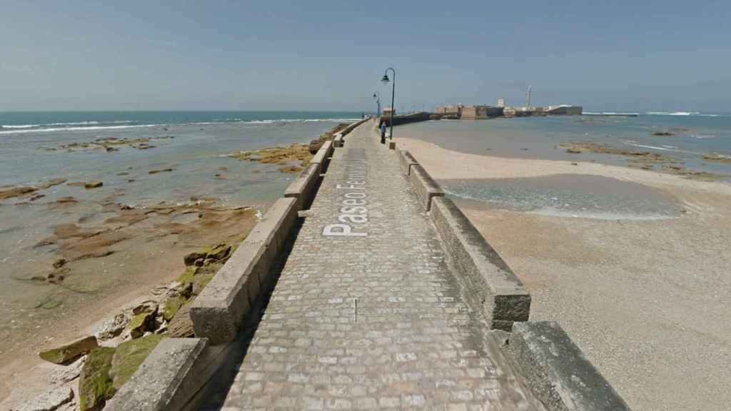 Paseo de Fernando Quiñones en Cádiz.