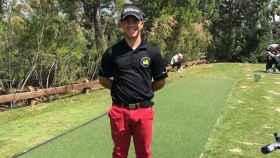 El joven golfista albaceteño Ángel Soria