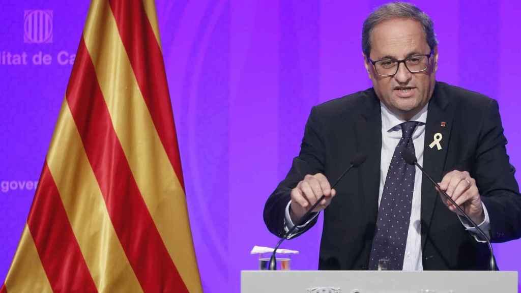 El presidente de la Generalitat, Quim Torra. Efe.