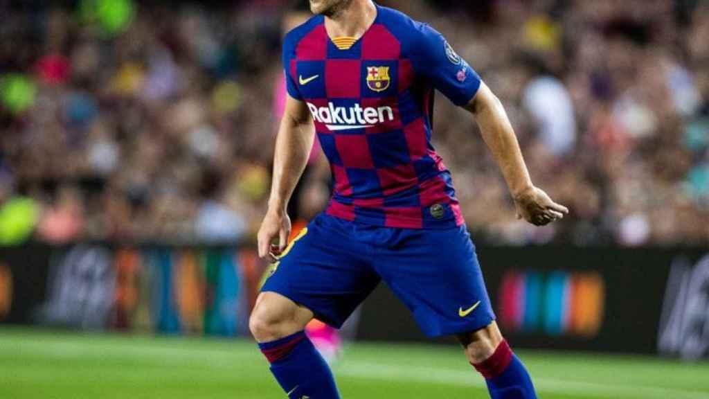 Arthur Melo, durante un partido con el Barça