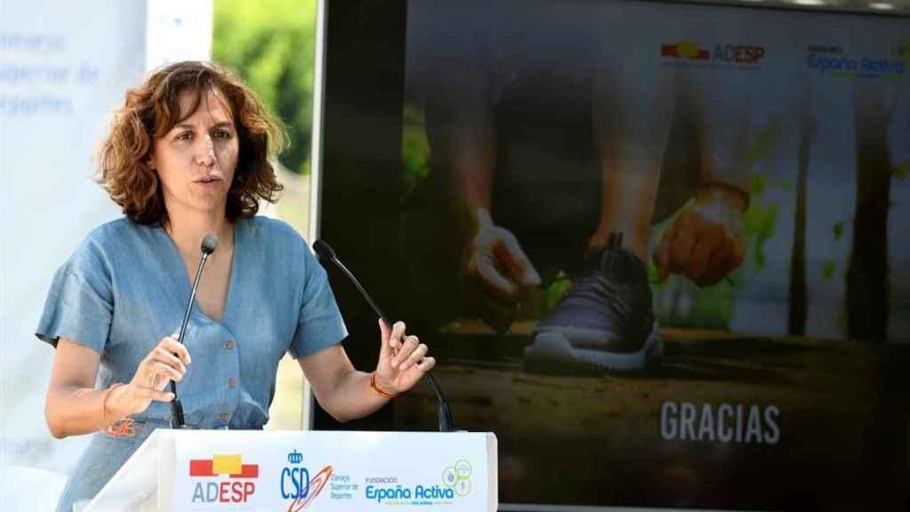 Irene Lozano, en un acto en el CEAR en el Velódromo Luis Puig