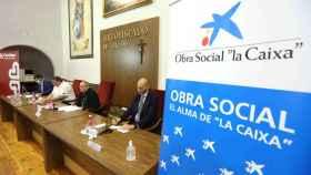 Rueda de prensa conjunta del arzobispo de Toledo, Francisco Cerro, y representantes de la Obra Social de la Caixa. Foto: Óscar Huertas