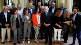 Miembros de Lliga Democrática y Lliures.