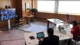 Imagen de la reunión de la Mesa de Automoción de este lunes.