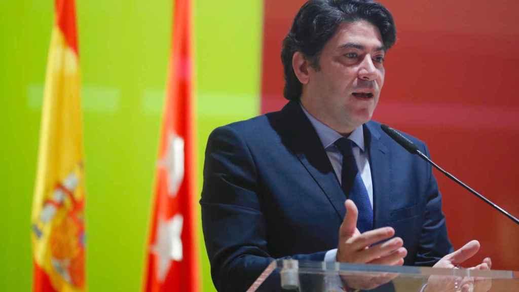 Imagen de recurso del consejero de Vivienda y Administración local de la Comunidad de Madrid, David Pérez.