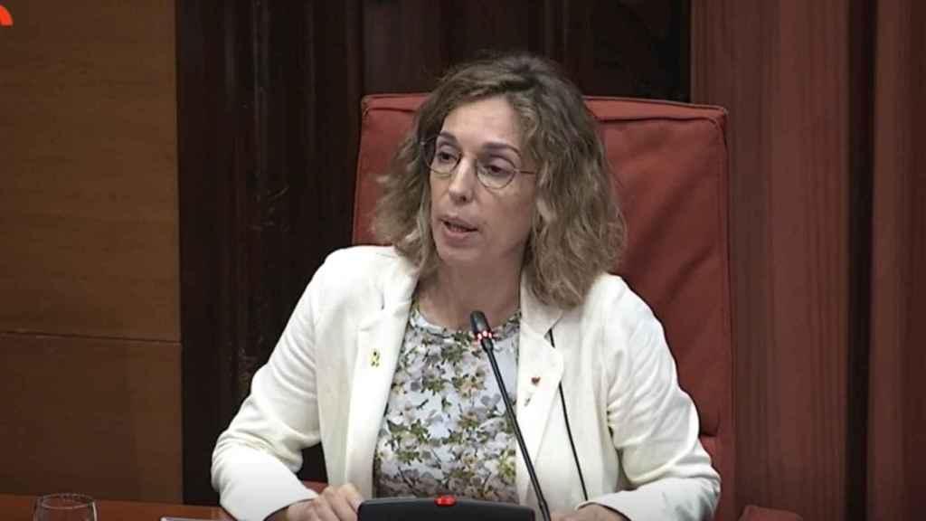 La consellera de Empresa y Conocimiento de la Generalitat, Àngels Chacón, en el Parlament este lunes.