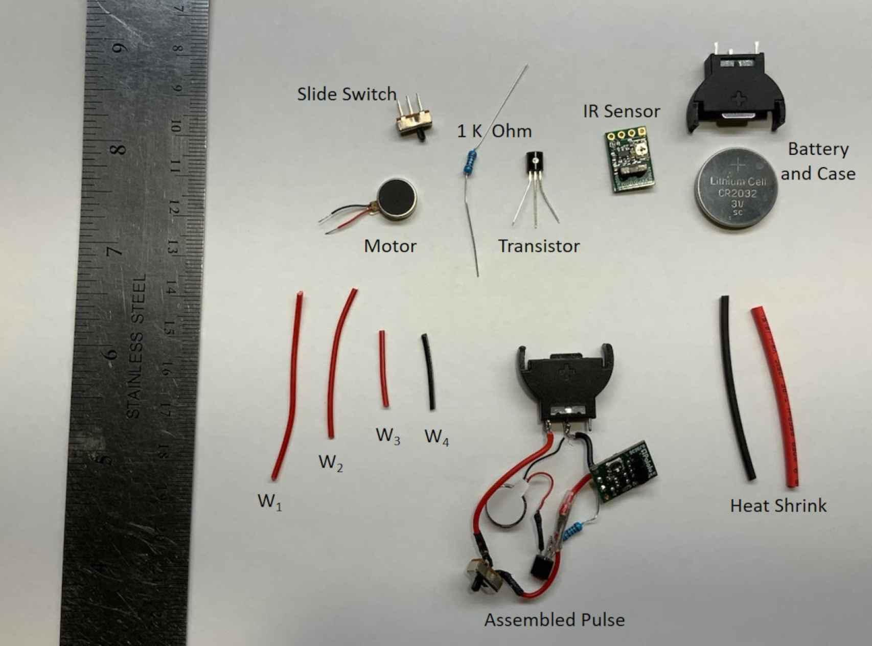 Componentes necesarios para montar el collar de la NASA