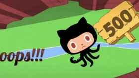 Ilustración de la caída de GitHub.
