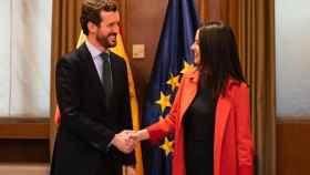 Pablo Casado e Inés Arrimadas en una imagen de archivo. Efe.