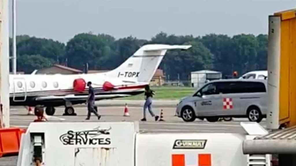 Achraf, a su llegada a Milán