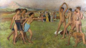 Espartanas entrenando con espartanos.