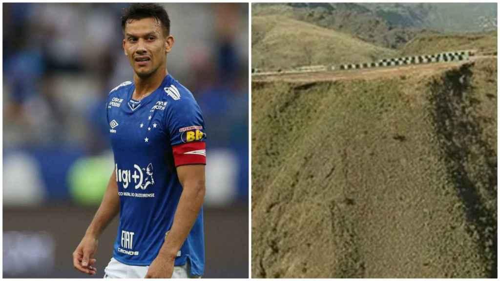 Un jugador brasileño se despeña con su coche por un barranco de 200 metros