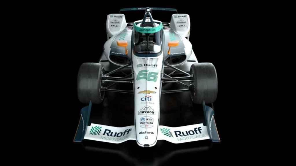 El coche de Fernando Alonso para disputar las 500 MIllas de Indianápolis en 2020. Foto: Twitter  (@ArrowMcLarenSP)