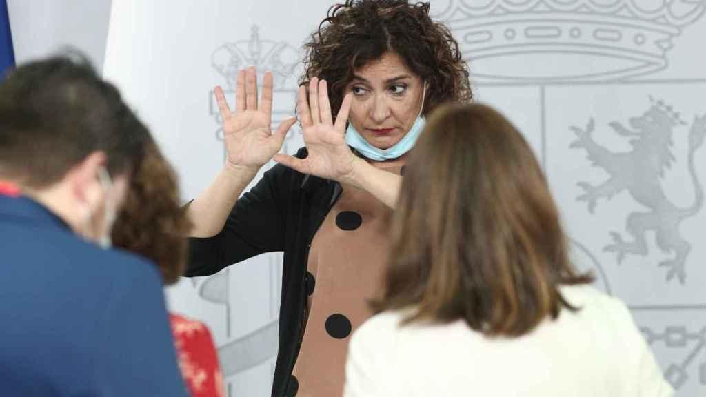 María Jesús Montero en la rueda de prensa posterior al último Consejo de Ministros.