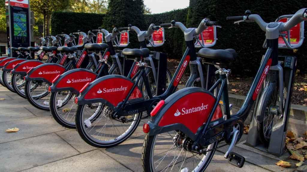 Servicio de Santander Cycles en Reino Unido.
